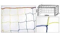 Сетка на ворота футзальные, гандбольные любительская (2шт) Капрон UR SO-5284 (капрон 1,2мм, яч.12см)