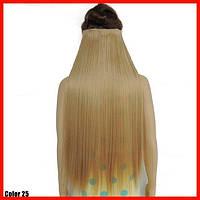 Одиночная широкая прядь цвет №25 песочный блонд  70см длина
