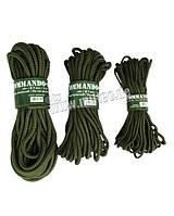 Мотузка олива COMMANDO 9мм (15м) Mil-Tec