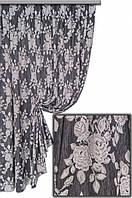 Ткань портьерная Гобелен Роза V1 Турция