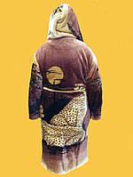 Халаты махровые сафари леопард