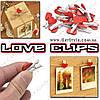 """Прищепки-сердечки - """"Love Clips"""" - 20 шт."""