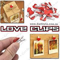 Прищіпки-сердечка Love Clips 20 шт, фото 1