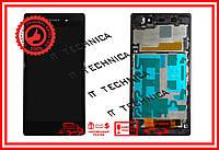 Модуль SONY Xperia Z1 C6903 Черный с рамкой