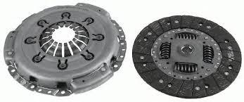 Комплект сцепления (корзина и диск, d=242mm) на Renault Trafic 1.9dCi 2001->2006 — LuK (Германия) - 624308709