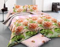 Комплект постільної білизни роза 3д