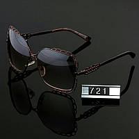 Женские стильные очки Hend Made квадратные коричневые