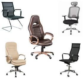 Стільці офісні, комп'ютерні, крісла керівників