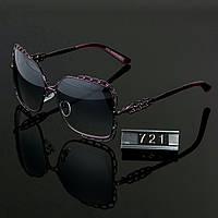 Женские стильные очки Hend Made квадратные сиреневые