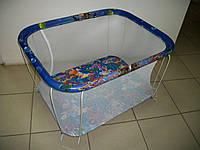 """Детский манеж Kinder Box """"ОКЕАН"""" мелкая сетка для детей 6 мес - 3 года. Гарантия безопасности!"""