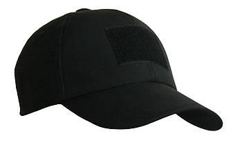 Тактическая кепка-бейсболка шестиклинка черный размер M, L без патча и XL