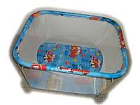 """Детский манеж Kinder Box """"Тачки"""" мелкая сетка для детей 6 мес - 3 года. Гарантия безопасности!"""