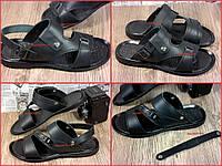 Натуральная кожа Отличные мужские сандали-шлепки, трансформеры. Качественная обувь