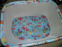 """Детский манеж Kinder Box """"РЫБКИ"""" для детей 6 мес - 3 года. Гарантия безопасности!"""