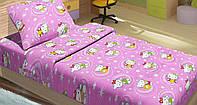 Постельное белье детское ранфорс Hello Kitty Star розовый Lotus