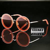 Женские стильные очки Hend Made круглые оранжевые