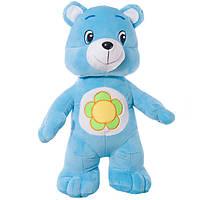 Детская мягкая игрушка, плюшевый мишка Весельчак,голубой