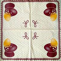 Салфетка декупажная 33x33 см 11 Три крашанки