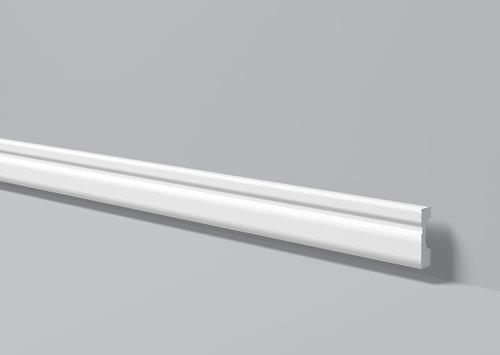 Напольный плинтус из высокоплотного полимера HDPS FD7 70*18 мм 2 м