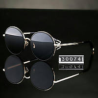 Женские стильные очки Hend Made круглые черные