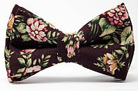 Галстук-Бабочка ручной работы Винтажные цветы Unisex