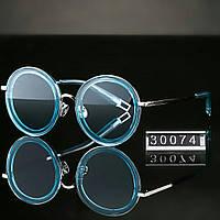 Женские стильные очки Hend Made круглые голубые