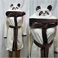 Детский махровый халат Панда