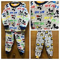 Махровая пижама на меху для малышей