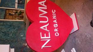 Сердце из пенопласта для презентаций продукта компании NEAUVIA 17