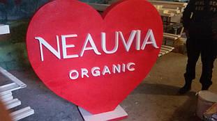 Сердце из пенопласта для презентаций продукта компании NEAUVIA 18