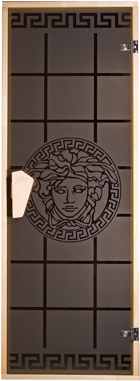 """Дверь для бани ТМ """"Tesli""""  700х1900,   """"Горгона"""""""