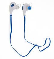 Гарнитура bluetooth  LAMYOO B004 бело-голубая