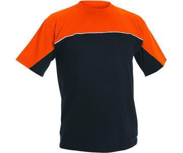 Футболка хлопок Červa Emerton темно-синяя с оранжевым 2XL, 3XL, фото 2