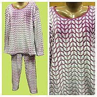 Пижама махровая женская однотонная