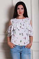 Молочная интересная блуза