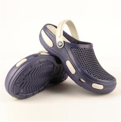 Мужские кроксы сине-белые (Код: Муж Сабо JA)