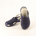 Мужские кроксы сине-белые (Код: Муж Сабо JA), фото 2