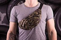 Барсетка мужская, сумка через плечо, на пояс, бананка, (камуфляж) Nike
