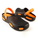 Кроксы подростковые черно-оранжевые (Код: Подр кроксы JA), фото 2
