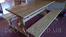 Набор деревянной мебели стол и лавочки, фото 2