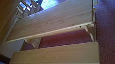 Набор деревянной мебели стол и лавочки, фото 3