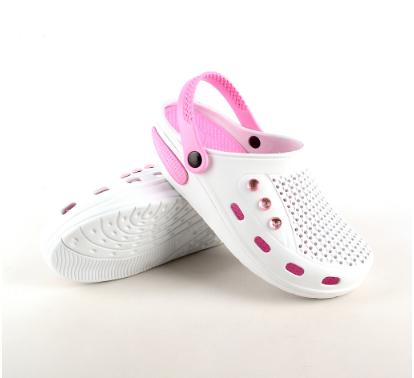 Женские сабо бело-розовые (Код: Жен сабо JA)