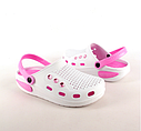 Женские сабо бело-розовые (Код: Жен сабо JA), фото 4