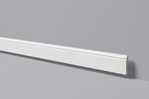 Напольный плинтус из высокоплотного полимера HDPS FL1 80*12 мм 2 м