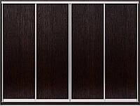 Фасад для шкафа купе. Конструктор на 4 двери ДСП.  Ручка А119. Габариты 2800(Ш) х 2200(В).