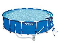 Каркасный бассейн Intex 28236, 4,57х1,22м, фильтр-насос, лестница, подстилка, тент, инструкция