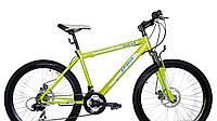 Горный спортивный велосипед 26 дюймов Azimu Dakar 335-G-FR/D-1 (оборудование SHIMANO)салатовый ***