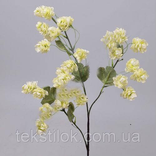 Хмель ветка кремовая 85 см. Цветы искусственные