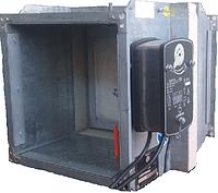 Клапан протипожежний огнезадерживающий КПВ 450х450 з приводом Lufberg, фото 1