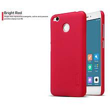 Чехол накладка Nillkin Super Frosted для Xiaomi Redmi 4X красный